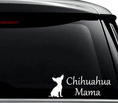 2pcs Cute Chihuahua Dog Car Sticker Window Laptop Truck Pad Motorcycle Decal