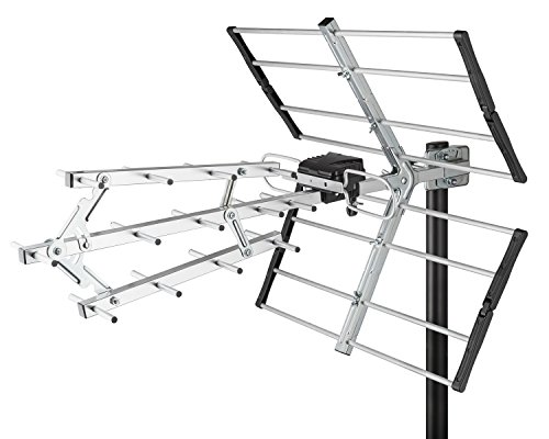 long range outdoor digital tv antenna vhf uhf hd amplified