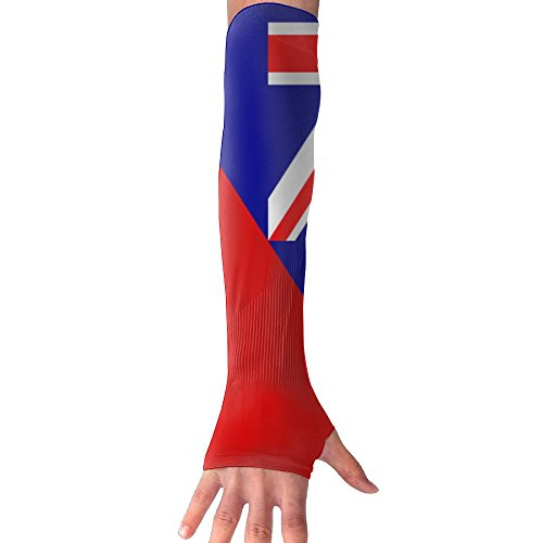 JINYIPI Gloves Flag Of Australia And Germany Novelty Athletic Anti-uv Sun Protection Fingerles Gloves Arm Sleeves Warmers