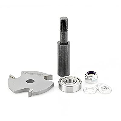 Amana Tool 53409-1 Slotting Cutter Assembly 3 Wing x 1-7/8 D x 7/32 CH x 1/2 Inch SHK Router Bit