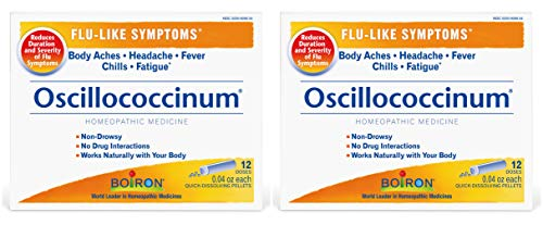 Oscillococcinum (Pack of 2) Prevents & Reduces Flu-Like Symptoms Naturally, 12 Doses Each (Best Medication For Flu Like Symptoms)