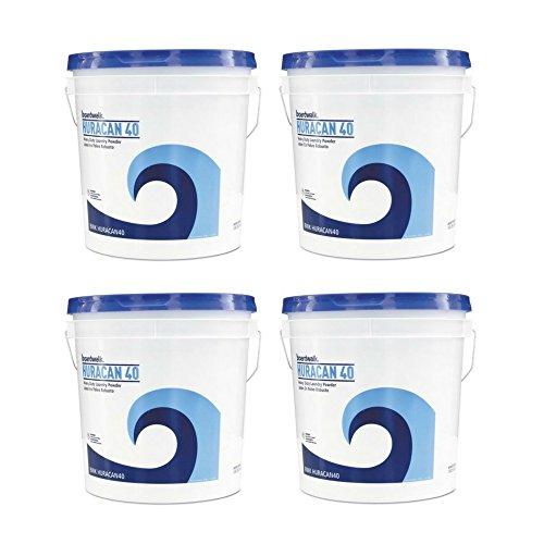 Boardwalk HURACAN40 Low Suds Industrial Powder Laundry Detergent, Fresh Lemon Scent, 40lb Pail by Boardwalk