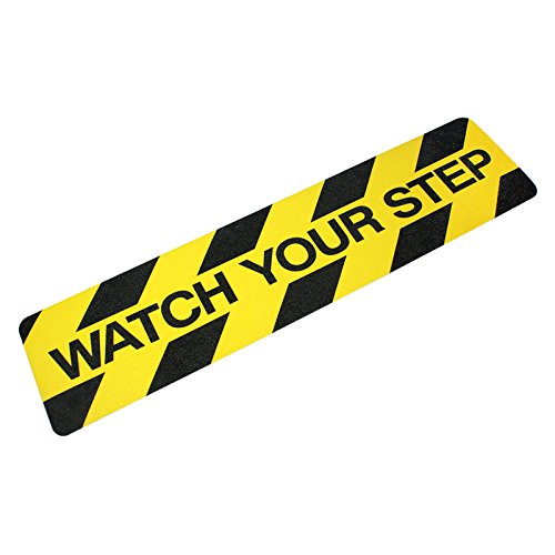 "Heskins WATC624""WATCH YOUR STEP"" Printed Anti Slip Tape, 6"" x 24"""