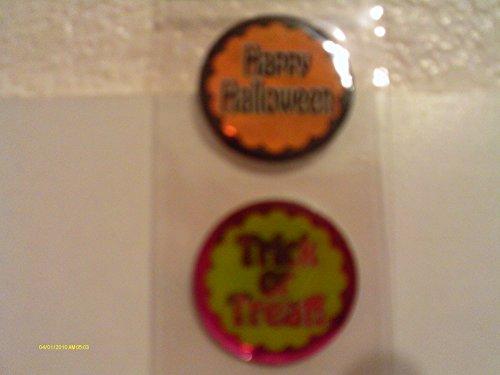 Round Halloween Stickers -