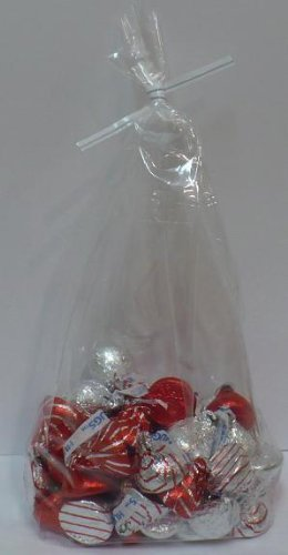 "Candy Treat Bags 4""x10"" with Twist Ties, Bag of 100"