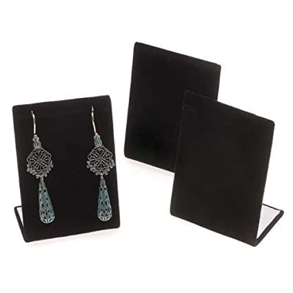 Amazon Beadaholique Black Velvet Leaning Earring StandsJewelry Impressive Jewelry Stands And Displays