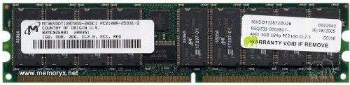 (MICRON MEMORY MODULE:184P-DDR-1GB-PC2100 ECC-REG)
