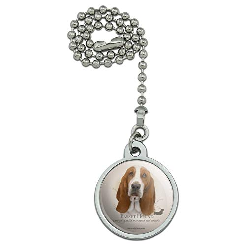 GRAPHICS & MORE Basset Hound Dog Breed Ceiling Fan and Light Pull Chain