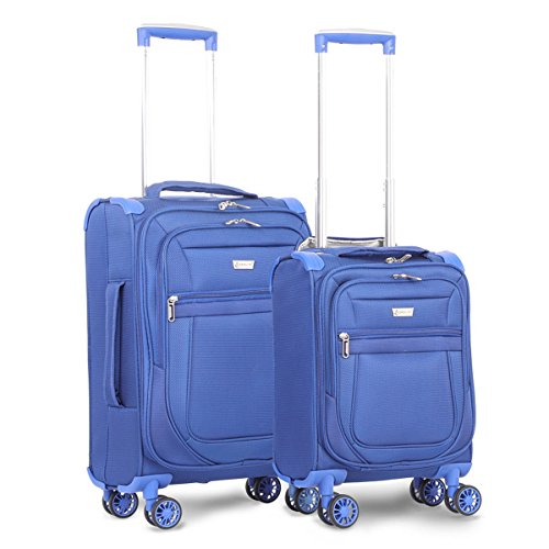 """Aerolite Carry On 21"""" & Underseat 17 Inch Ultra-Lightweight Spinner Suitcase Set for Delta, American, United & Southwest Airlines (Midnight Blue)"""