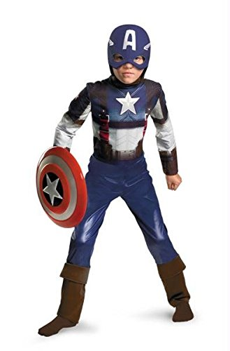 [Captain America Movie Child Classic Costume - Small (4-6)] (Captain America First Avenger Halloween Costume)