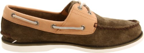 Timberland Mens Classic-2 Eyed Boat Shoe Olive Suede po35W7vOaj