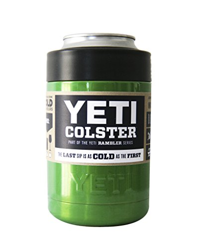 YETI Coolers Custom Rambler Colster Stainless Steel Insulated Beverage Holder Tumbler Cup Mug - Keep your 12 Ounce (12 oz) (12oz) beer or soda, can or bottle, cold for hours (Sour Apple Green)