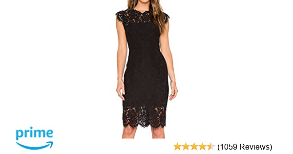 bee375f123 MEROKEETY Women's Sleeveless Lace Floral Elegant Cocktail Dress Crew Neck  Knee Length for Party at Amazon Women's Clothing store: