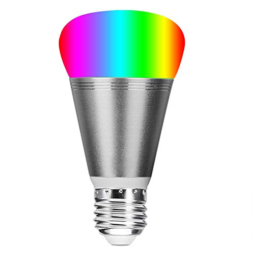 Light Dimmable White and RGB Colors 60W Equivalent, WiFi Smart Bulb App Remote Control Variable Tone Alexa Voice Led -
