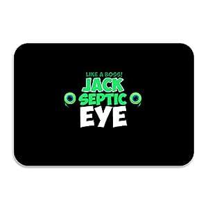 """hantrtnd jacksepticeye Logo anti-slip anti-bacterial alfombrilla de baño (15.7""""x 23.6"""" color blanco"""