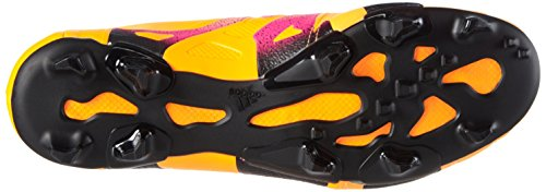 adidas X 15.1 Fg/Ag Leather, Botas de Fútbol para Hombre Naranja / Rosa / Negro (Dorsol / Rosimp / Negbas)