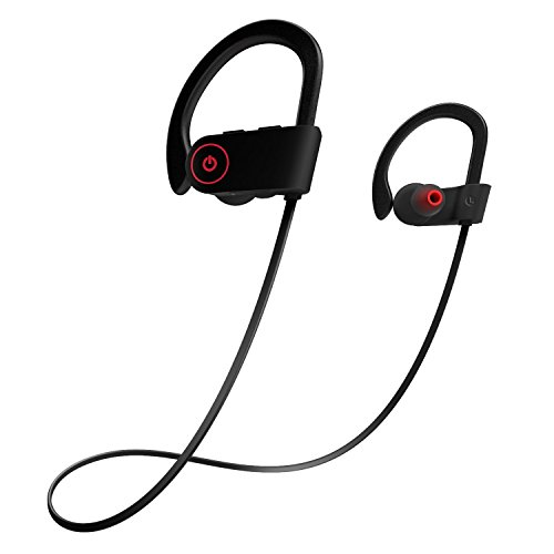 Otium Bluetooth Headphones, Best Wireless Sports Earphones w/Mic IPX7 Waterproof HD Stereo Sweatproof In Ear Earbuds for Gym Running Workout 8 Hour Battery Noise Cancelling Headsets