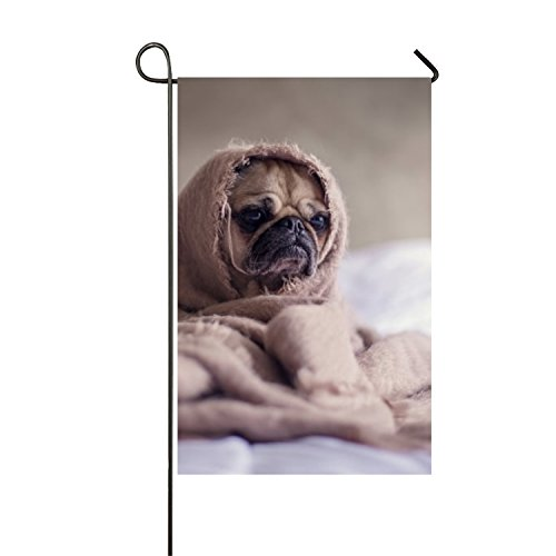 Quilt Covers The Dog's Head Welcome flower garden flag double sided bright colorsDouble Side For Home (Garden Quilt Cover)