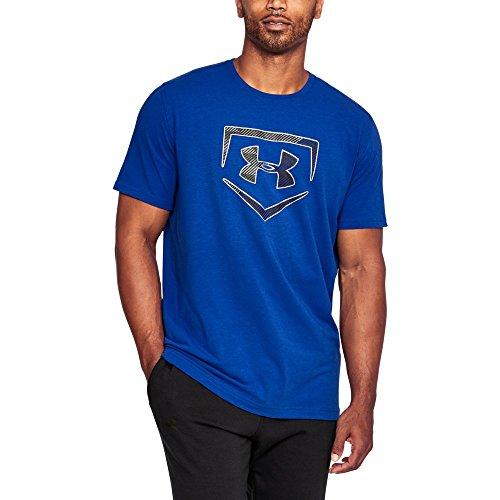 Under Armour Men's Plate Logo T-Shirt, Royal/Graphite, (Blue Logo Cotton T-shirt)
