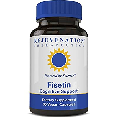 Rejuvenation Therapeutics Fisetin |Antioxidant| Anti Inflammatory| Dietary Flavonoid| Non-GMO, Vegan, Gluten Free, Soy Free, 100 mg, 30 Veggie Caps