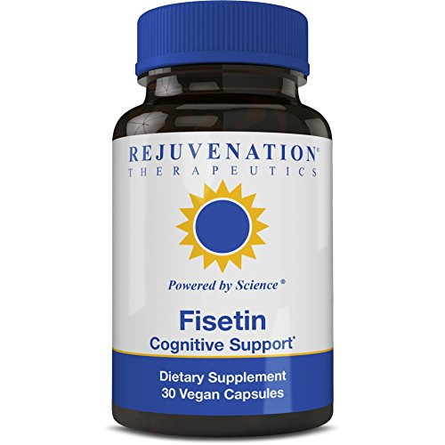 Rejuvenation Therapeutics - Fisetin | Antioxidant | Anti-Inflammatory | Dietary Flavonoid | Non-GMO, Vegan, Gluten-Free, Soy-Free, 100 mg, 30 Veggie Caps