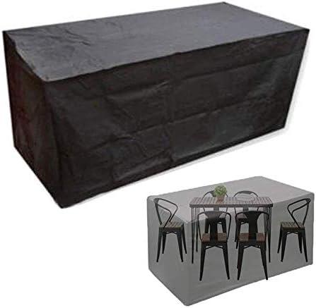 ファニチャー カバー ファニチャーカバー ガーデン家具カバー パティオセットカバー 防水 大 アウトドア 長方形 ガーデンテーブルカバー シバオ (Size : 125×125×75CM)