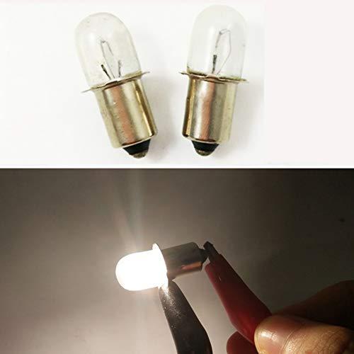 Flashlight Xenon Aa 4 Lamp (P13.5S 14.4V / 0.7A 10.08W KPR Base Indicator Flashlight Bulb Flanged Miniature Torch Headlight Mini Head Lamp Working Tools (Pack of 4))