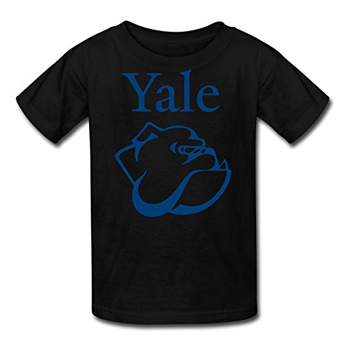 AMAG Yale University Logo Youth Boys And Girls T-shirt Black Size XS