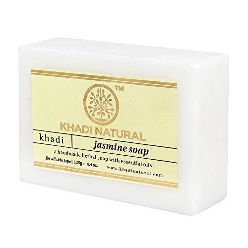Khadi Natural Ayurvedic Herbal Handmade Pure Jasmine Bathing Soap 125gm