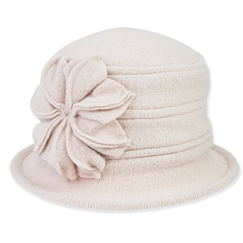 womens-soft-wool-cloche-bucket-hat-with-flower-trim-422-a-beige