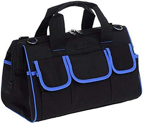 ツールバッグ 工具収納袋オーガナイザー用ハンド/パワーツールジップトップ&耐摩耗性ラバーベース 工具収納便利 (Color : Blue, Size : 20inch)