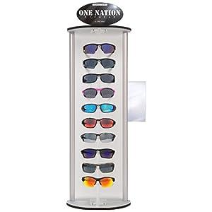 "ERB Safety 75710 One Nation Safety Glasses Display - 10 Eyewear Styles, 21"" X 13"" X 10"", White"