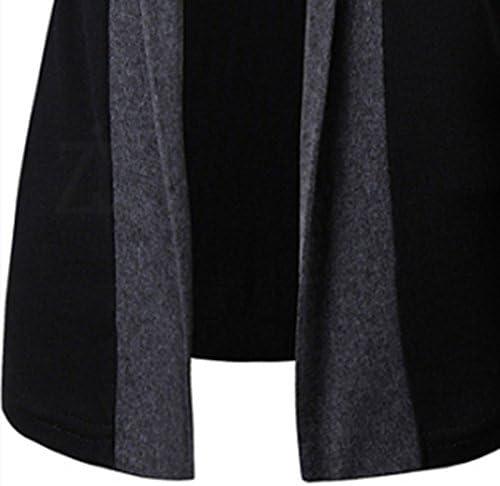 メンズ ファッション オールマッチ スタイル ニットウェア ボタンなし カジュアル カーディガン 配色切替 切り替え トップス