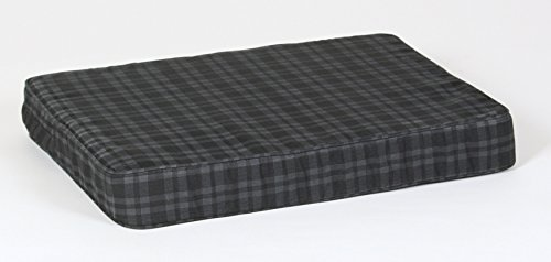- Large Gray Plaid Orthopedic Foam Dog Bed