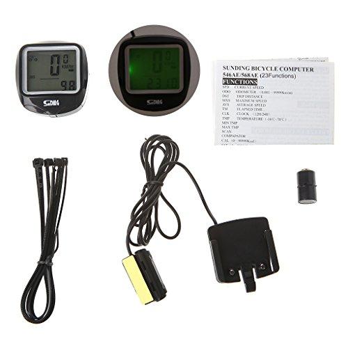 BetterM Luminous Bike Computer , Waterproof Cycling Speedometer Odometer with LCD