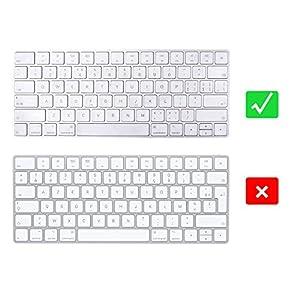 EooCoo Magic Keyboard Cover Skin Protector, Fit for Apple iMac Magic Keyboard MLA22LL/A A1644 – Clear TPU
