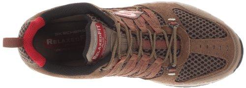 Skechers Sport Hombres Outland Sneaker Marrón / Rojo