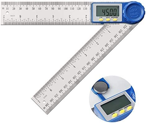 Details about  /2-in-1 Stainless Steel Digital Angle Finder Meter Protractor Ruler 360 degree