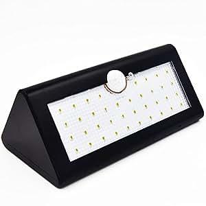 YuHan® 38LED Solar luces 600lúmenes, sensor de movimiento luz con tres modos inteligente, inalámbrica impermeable seguridad lámpara para jardín, valla, Patio, cubierta, Patio, Casa, Entrada, escaleras, pared exterior, negro