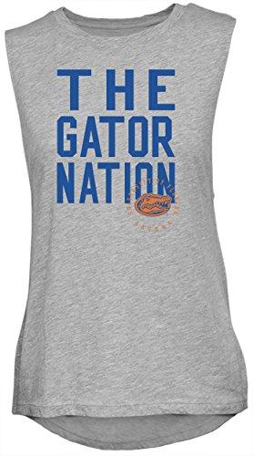 - NCAA Rocker Women's Sleeveless Drop Tail Tank, Athletic Heather, Medium, Florida Gators