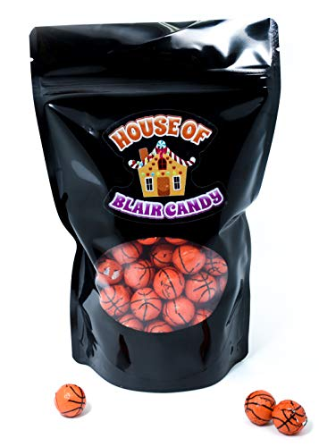 Chocolate Covered Basketballs - Bulk Chocolate Basketball Candy - 1 Pound - Approximately 80 Pieces]()