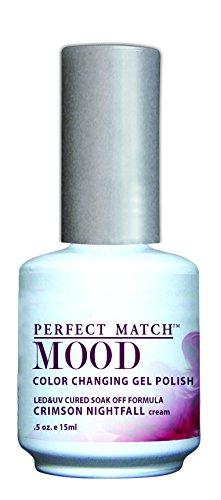 LECHAT Perfect Match Mood Gel Polish, Crimson Nightfall, 0.5