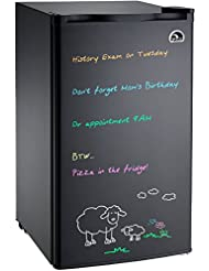Igloo FR326M-D-BLACK Erase Board Refrigerator with Neon Marke...