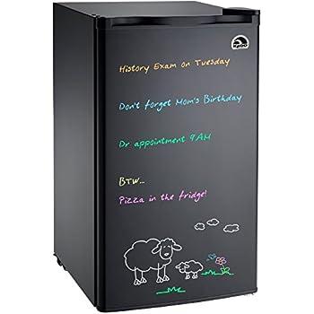 Igloo FR326M-D-BLACK Erase Board Refrigerator with Neon Markers, 3.2 cu. ft, Black