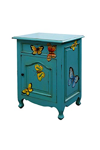 - NES Furniture Nes Fine Handcrafted Furniture Solid Mahogany Wood Butterfly Bedside Cabinet / End Table - 28