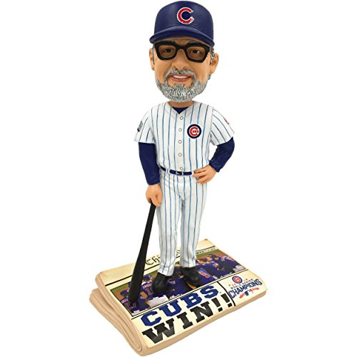 Forever Collectibles Chicago Cubs Joe Maddon 2016 World Series Champions Newspaper Bobblehead