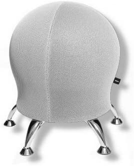 Top Star Wellness Chaise / Balle / Tabouret Sitness 5 Tissu Blanc Chrome