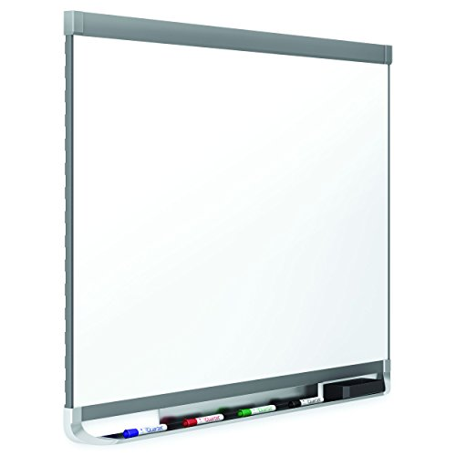 Quartet Prestige 2 DuraMax Porcelain Magnetic Whiteboard, 6 x 4 Feet, Graphite Finish Frame (P557GP2) by Quartet