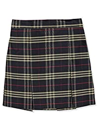 Cookie's Brand Little Girls' Box Pleat Skirt - Navy/Khaki/red *Plaid #1c*, 6