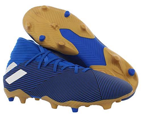 Adidas Mens Nemeziz 19.3 Fg Soccer Shoes Blue/White/Black 10 2